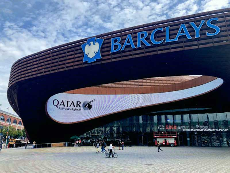 Barclays Center and Qatar Airways