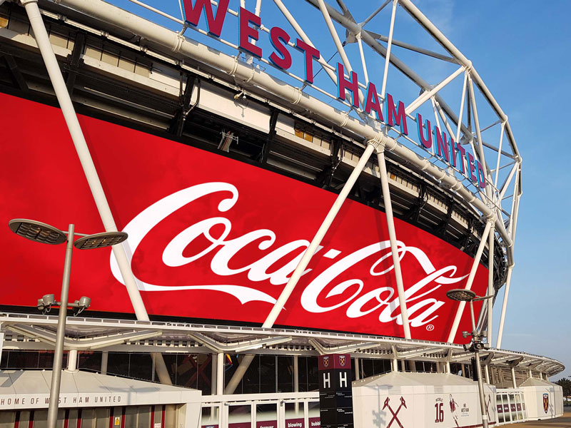 London Stadium & Coca Cola