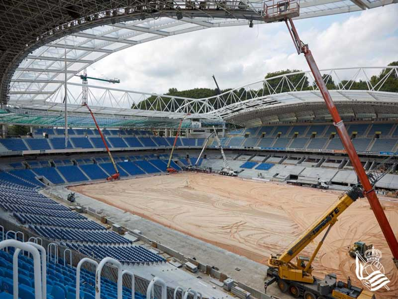 Real Sociedad - Anoeta Stadium construction