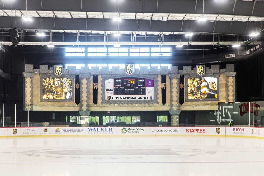 Vegas Golden Knights Headquarters (City National Arena) - inside view