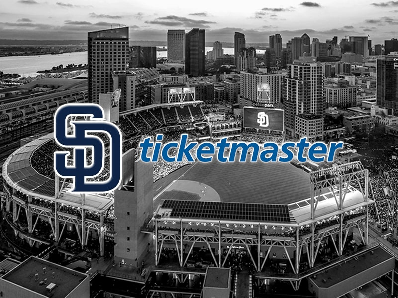 San Diego Padres and Ticketmaster