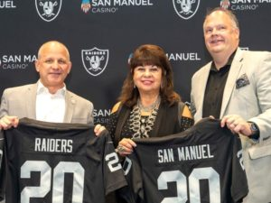 Allegiant Stadium and San Manuel partner